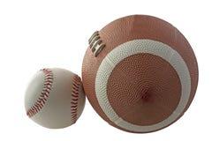 Baseball and football stock photos