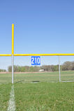 Baseball Foul Pole and Outfield Fence Royalty Free Stock Image