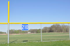 Baseball Foul Pole and Outfield Fence Royalty Free Stock Images