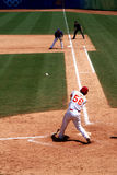 Baseball game. Batter at during baseball game,is one strike. 2008.8.15 Baseball game, Chinese team - Taiwan team. Beijing Olympic Games Stock Photo