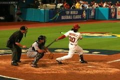 Baseball game. Venezuela vs USA at the 09 World Baseball Classic Stock Photography