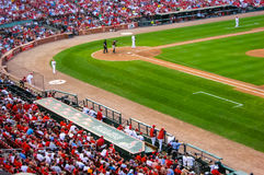 Baseball game in Cardinal's stadium Stock Image