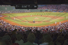 Baseball game at Fenway park Stock Images