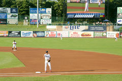 Baseball Game minor league Stock Photo