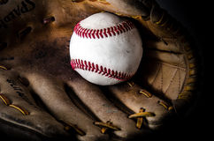 Baseball game mitt and ball Royalty Free Stock Photography
