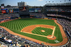 Baseball game. New York Yankee Stadium. Yankee and Washington DC layers at a baseball game in New York in 2015 Stock Photography