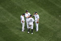 Baseball game. New York Yankee. Yankee and Washington DC layers at a baseball game in New York in 2015 Stock Images