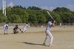 Baseball Game in Osaka, Japan Stock Images