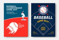 Baseball game poster. Baseball game modern sports posters design. Vector illustration stock illustration
