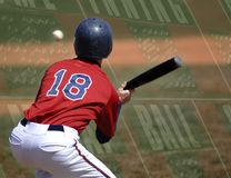 Baseball-geschlagener Eierteig Stockbild