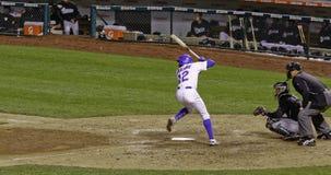 Baseball - geschlagener Eierteig mit Exemplar-Platz Stockfotos