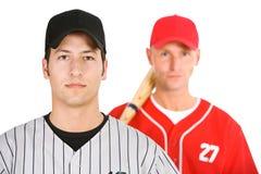 Baseball: Giocatori sui gruppi avversari Fotografia Stock Libera da Diritti