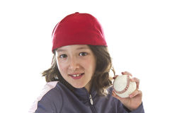 Baseball Girl Royalty Free Stock Photos