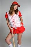 Baseball Girl Royalty Free Stock Images