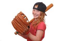 Baseball girl royalty free stock photography