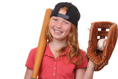 Baseball girl Stock Images