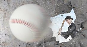 Baseball girl training Royalty Free Stock Photos