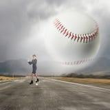 Baseball girl training Royalty Free Stock Image