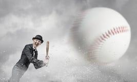 Baseball girl training Stock Photography