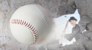 Baseball girl training Stock Photo