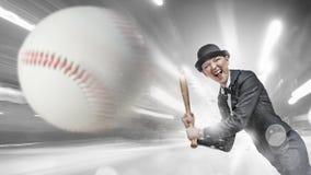 Baseball girl training Royalty Free Stock Photo