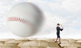 Baseball girl training Royalty Free Stock Images