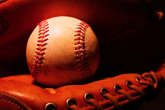 Baseball in Glove Stock Photography