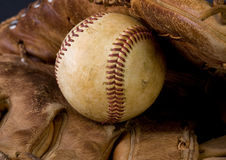 Baseball and glove Stock Photos