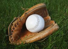 Baseball and glove Royalty Free Stock Photo
