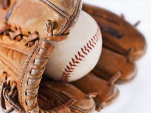 Baseball and glove Stock Images
