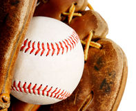 Baseball with glove Stock Image