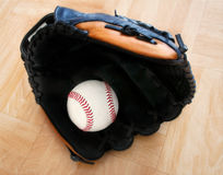 Baseball in Glove Royalty Free Stock Image
