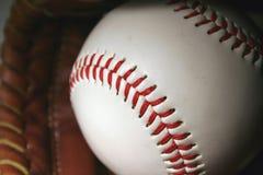 Baseball and glove Stock Photos