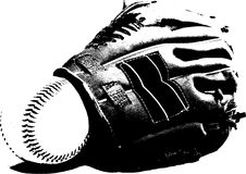 Baseball glove Stock Photography