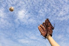 Free Baseball Glove And Ready To Catching Royalty Free Stock Photos - 23150658