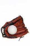 Baseball glove and ball Stock Photos
