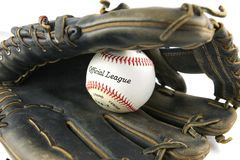 Baseball Glove with Ball. White isolation background Royalty Free Stock Photo