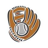 Baseball glove. And baseball ball Royalty Free Stock Photos