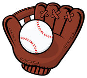 Baseball Glove And Ball Illustration Royalty Free Stock Photos