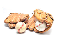 Baseball glove and ball isolated. On white Stock Photo