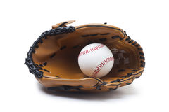 baseball glove and ball Royalty Free Stock Photography
