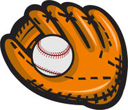 Baseball Glove Ball Retro Royalty Free Stock Photo