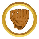 Baseball glove with ball vector icon Stock Images