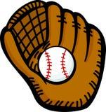 Baseball glove and ball vector illustration. Vector illustration of a baseball glove and a ball Royalty Free Stock Photos