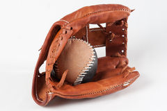 Baseball Glove with ball Stock Images