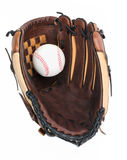 Baseball Glove with Baseball. Baseball Glove and Ball isolated on white background Stock Photos