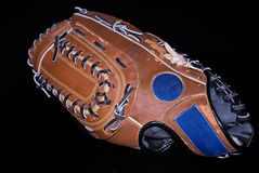 Baseball glove on black Stock Photography