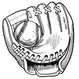 Baseball glove drawing Stock Photography