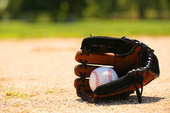 Baseball in Glove Royalty Free Stock Images