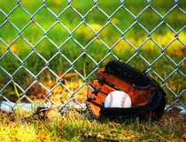 Baseball in Glove Stock Photo